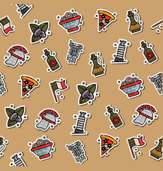 colored italy pattern vector image