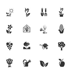 Plants tools icon set vector