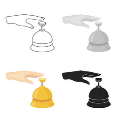 Reception bell icon in cartoon style isolated on vector