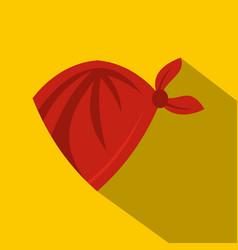 red cowboy neckerchief icon flat style vector image