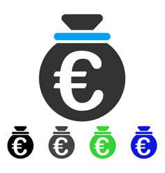 Euro fund flat icon vector