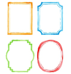 Set watercolor frames vector