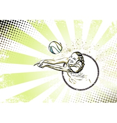 beach volleyball poster vector image