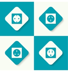 Set of icons electrical sockets vector image