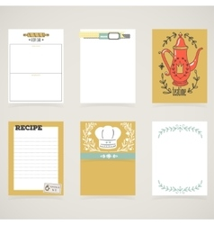 Set of 6 creative journaling cards vector