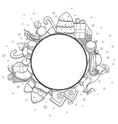 Colorless christmas greeting card vector