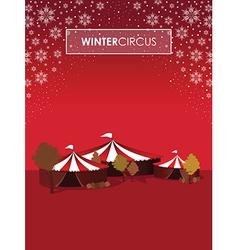 Winter circus vector