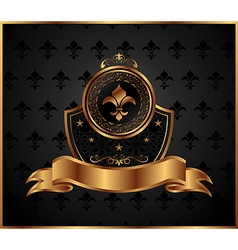 Royal golden frame for design - vector