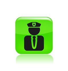 Modern police icon vector