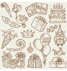Hand drawn birthday celebration vector