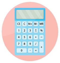 Calculator icon isolated vector