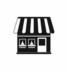Shop building icon simple style vector