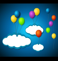 Isolated balloon tags vector image