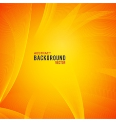 Abstract yellow and orange background vector image vector image