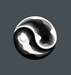 Abstract yin yang symbol design vector