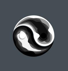 abstract yin yang symbol design vector image