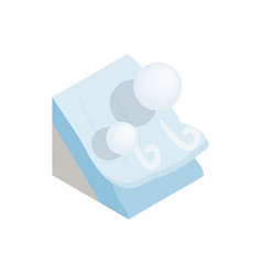 Avalanche icon isometric 3d style vector