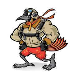 bird gallant aviator vector image vector image
