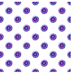 Blue and purple sweet lollipop candie pattern vector