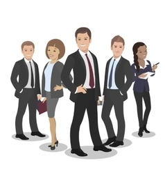 Business People Group Diverse Team vector image