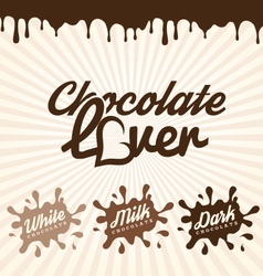 Chocolate design elements labels and badges vector