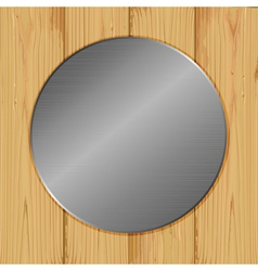 circle on a wood vector image vector image