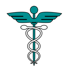 Color graphic of cartoon health symbol with vector