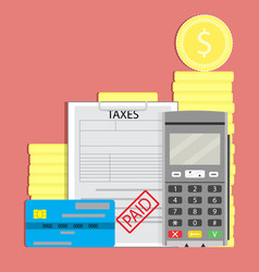 concept tax paid vector image vector image