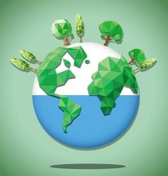 earth green polygon vector image vector image
