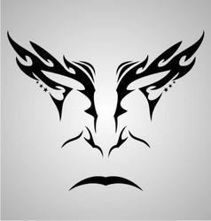 Face tattoo design vector