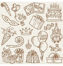 Hand drawn birthday celebration vector