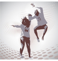 jumping boy and girl vector image