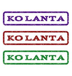 ko lanta watermark stamp vector image