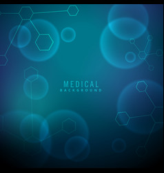 Medical background with molecules and chemical vector