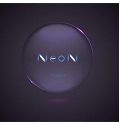 Neon logo design element on a dark background vector