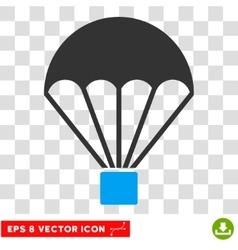 Parachute eps icon vector