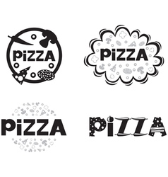 pizza logo set2 vector image vector image