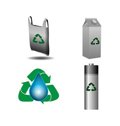 Recyclable icons vector image vector image