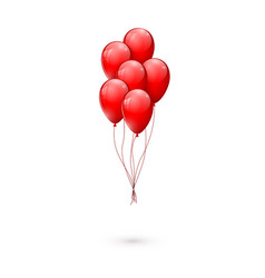 red glossy balloons vector image