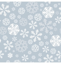 snowflake seamless background vector image vector image