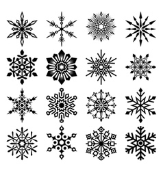 snowflakes set vector image