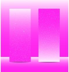 Vertical pinkrectangle banners snow winter vector