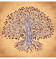 Vintage tree of life vector image vector image