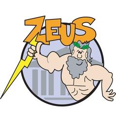Zeus cartoon logo vector