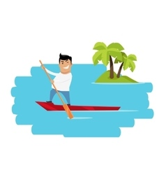 Vacation in tropics concept vector