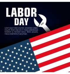 Happy labor day poster icon vector