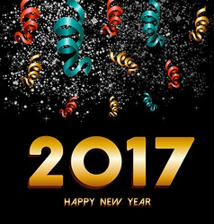 New year 2017 firework explosion design vector