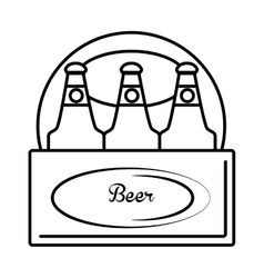 Fresh beer bottle isolated icon vector