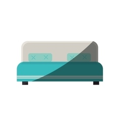 Hotel bed isolated icon vector
