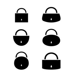 Pad lock on the door vector